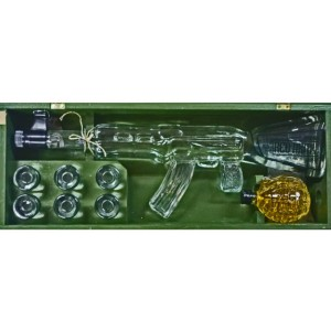 Vodka Red Army Kalashnikov 1L caja de madera